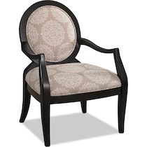 mellie white accent chair