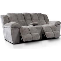 mellow gray  pc manual reclining living room