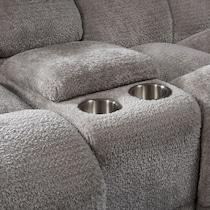 mellow gray manual reclining loveseat