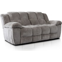 mellow gray manual reclining sofa