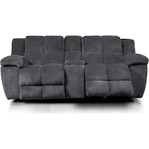 mellow gray power reclining loveseat