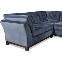 melrose blue  pc sectional