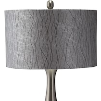 metal silver metal table lamp