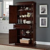 midway dark brown kitchen pantry