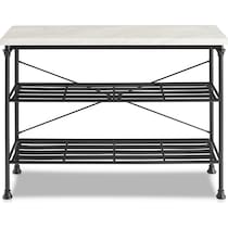 mila black console table