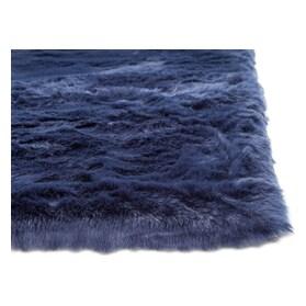 Faux Mink Fur Area Rug - Sapphire
