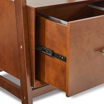mitch dark brown bookcase