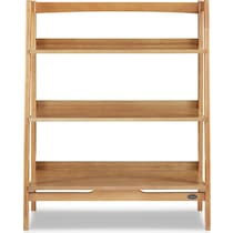 mitch light brown bookcase