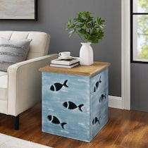 moby blue end table