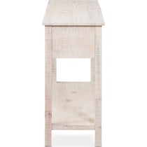 mona white console table