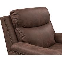 montana manual dark brown manual recliner
