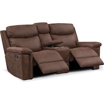 montana manual dark brown manual reclining loveseat