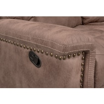 montana manual light brown manual reclining sofa