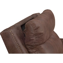 montana power dark brown power recliner
