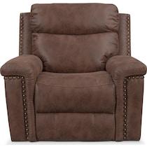montana power dark brown power recliner
