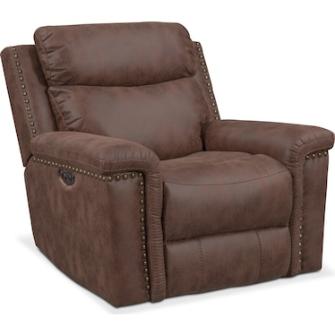 Montana Dual-Power Recliner - Brown