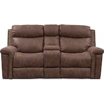 montana power dark brown power reclining loveseat
