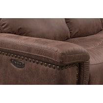 montana power dark brown power reclining sofa