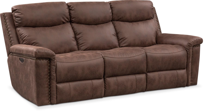 Living Room Furniture - Montana Dual-Power Reclining Sofa