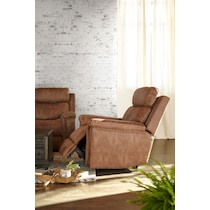 montana power light brown power recliner