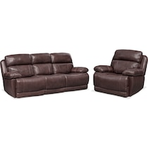 monte carlo dark brown  pc power reclining living room
