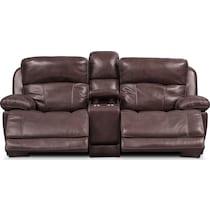 monte carlo dark brown power reclining loveseat