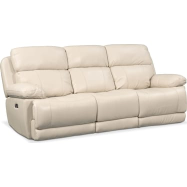 Monte Carlo Dual-Power Reclining Sofa - Cream