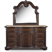 monticello pecan pecan dresser & mirror