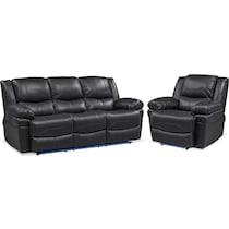 monza manual black  pc manual reclining living room