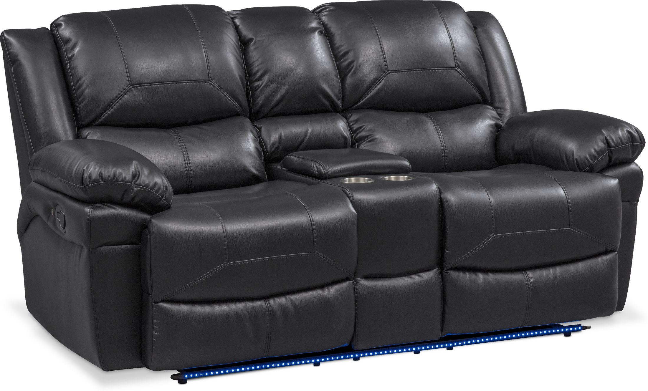 Living Room Furniture - Monza Manual Reclining Loveseat
