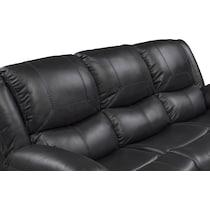 monza manual black manual reclining sofa