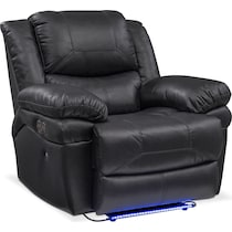 monza power black power recliner