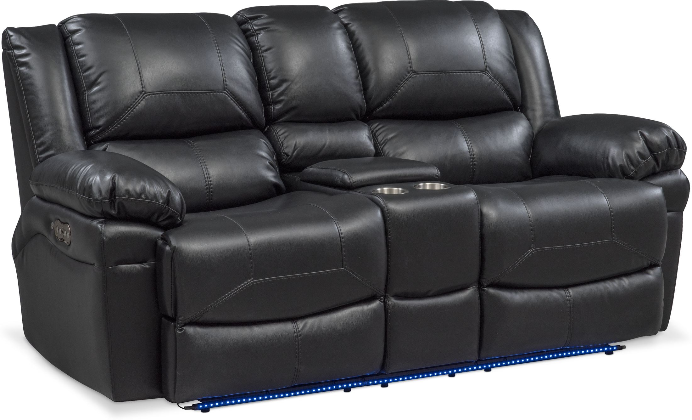 Living Room Furniture - Monza Dual-Power Reclining Loveseat