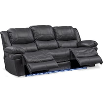 monza power black power reclining sofa