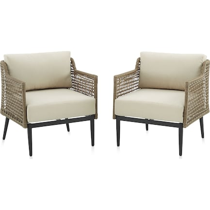 Moreno Set of 2 Outdoor Chairs