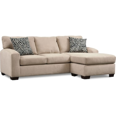Nala 2-Piece Sectional with Chaise - Beige