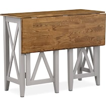 nantucket counter height dining oak oak and gray breakfast bar