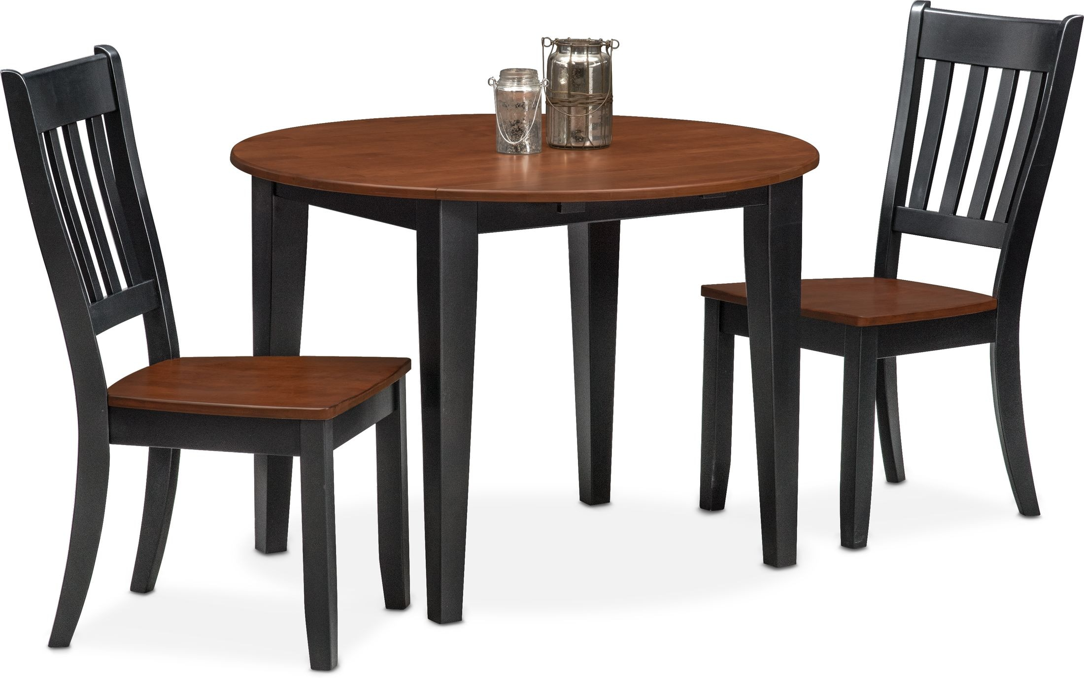Nantucket Drop Leaf Dining Table And 2 Slat Back Dining Chairs Value City Furniture