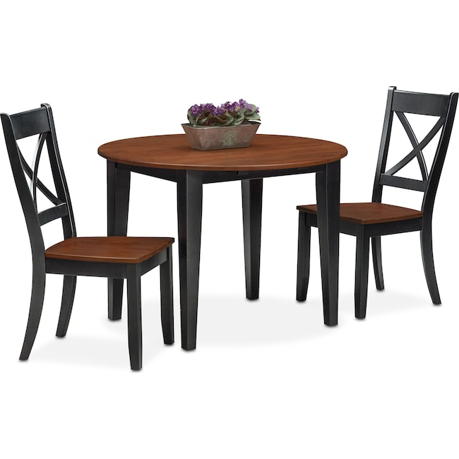 Dining Room Furniture - Nantucket Drop-Leaf Dining Table and 2 Dining Chairs
