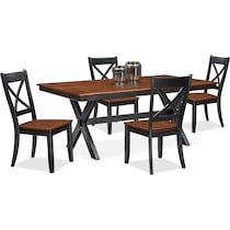 nantucket dining cherry black and cherry  pc dining room