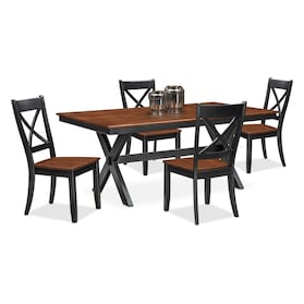 Nantucket Trestle Dining Table and 4 Dining Chairs