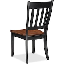 nantucket dining cherry black and cherry side chair