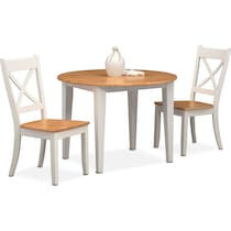 nantucket dining maple maple and white  pc dining set