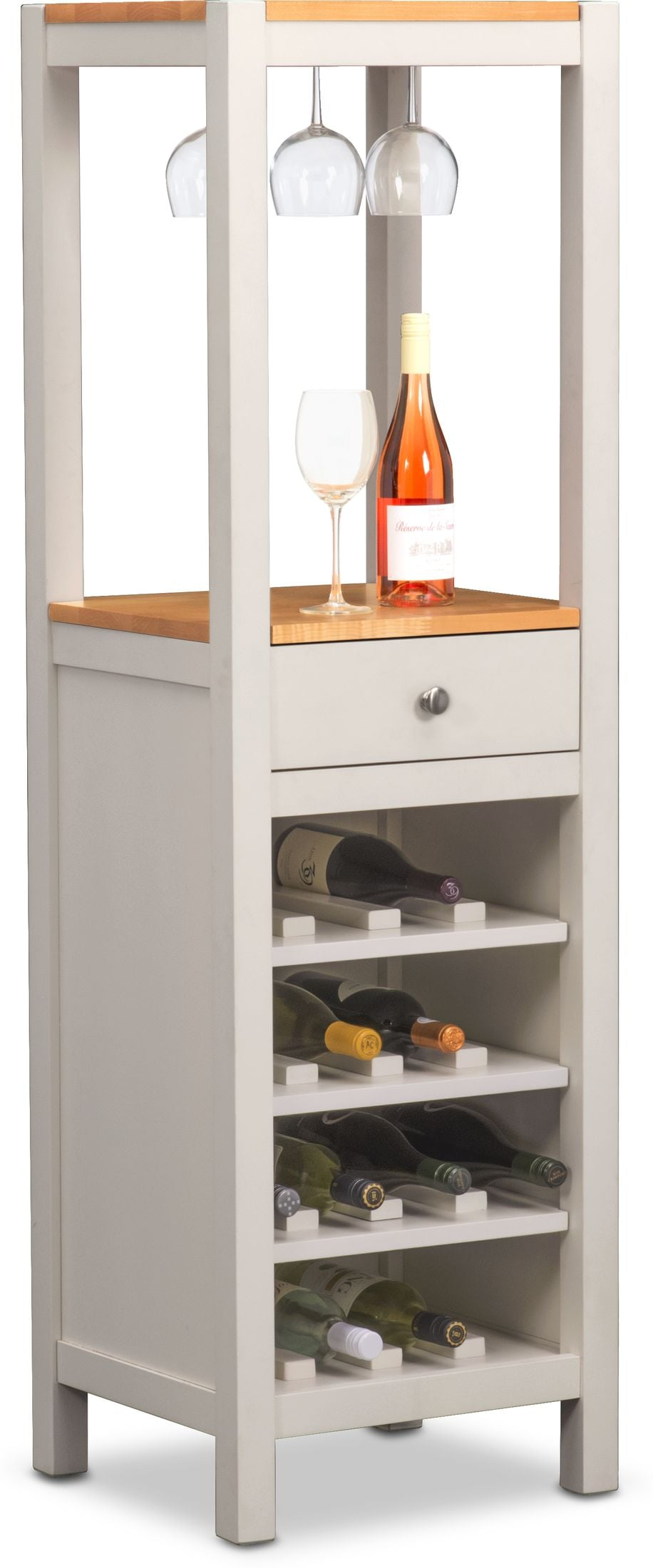 Dining Room Furniture - Nantucket Wine Cabinet - Maple and White