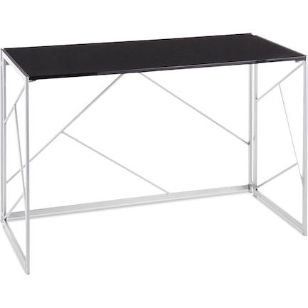 Nellie Desk - Silver/Black