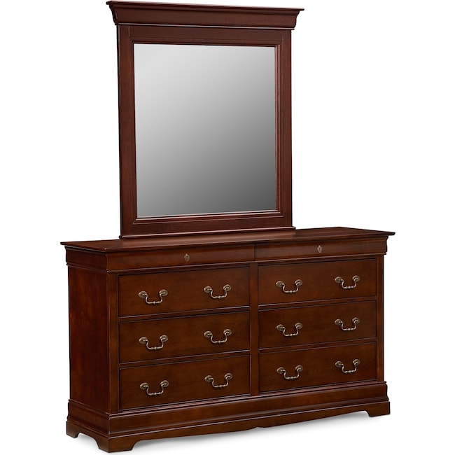 Bedroom Furniture - Neo Classic Dresser and Mirror