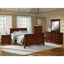 neo classic cherry dark brown nightstand
