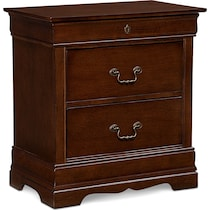 neo classic cherry dark brown nightstand