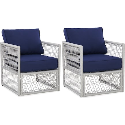 Nesika Set of 2 Outdoor Chairs