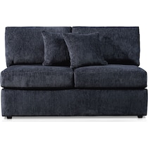 nest gray armless loveseat